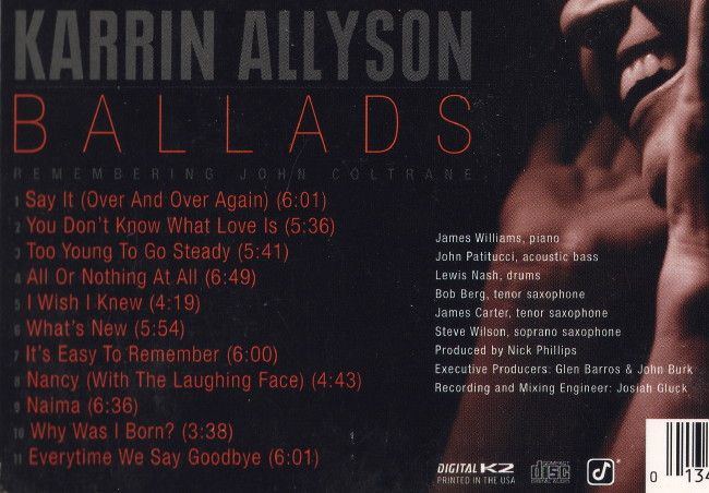 ballads remembering john coltrane karrin allyson biography